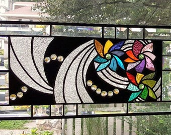OH SO MAGICAL! Stained Glass Window Panel (Signed and Dated)