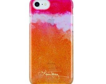 Laura Trevey iPhone7 Case  - Orange Ombre