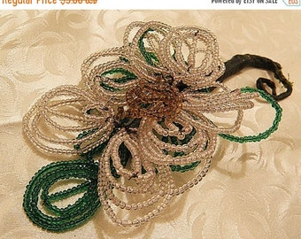 christmasinjuly SALE.....French Beaded Flower Corsage