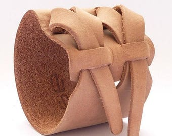 On Sale Safari Double Cuff in Taupe by Muse 2 inches