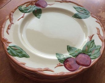 """Vintage Franciscan Apple Luncheon Plates 9 1/2"""" Set of 8"""