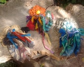 Custom flower corsage with fabrics for JUDY