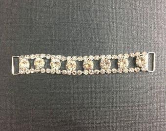 Crystal 6 large rhinestone connector for bikini or craft