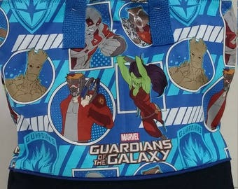 Guardians of the Galaxy Child Tote / School Tote / Book Travel Bag / Overnight Bag / Embroidered with Childs name