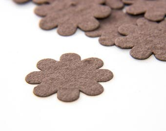 200 Brown Plantable Seed Paper Flower Confetti diy wedding favors, place cards, save the date cards creative invitations by Nature Favors