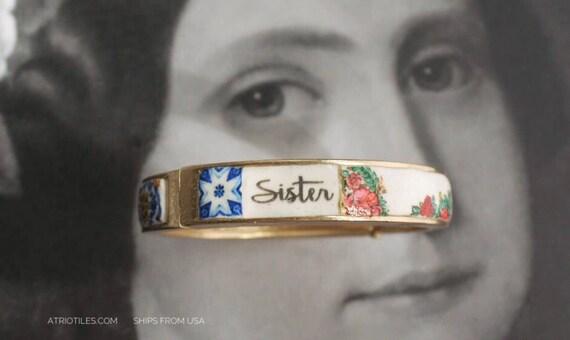 Sister Bracelet Bangle Portugal Portuguese Tiles Azulejos Heritage Russian Pashmina Folk PRE ORDER