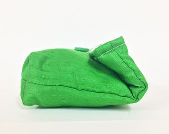 Spring Green Silk Clutch, Evening Bag, Holiday Fashion, Christmas Fashion, New Year's Eve Purse, Christmas Gift Under 15, Gift For Her