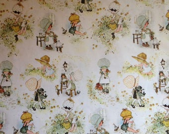 1968 Holly Hobbie All Occasion Gift Wrap by American Greetings