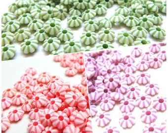 clearance sales / W801 / 400Pc / Diameter 5mm x 3mm - Opaque Plastic 5mm Saucer Spacer Beads.