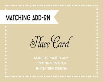 Place Card - Printable Digital File