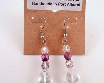 Czech glass crystal earrings