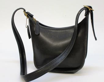 Vintage Coach Bag / Black Coach Legacy / Small Hobo Bag / #9950