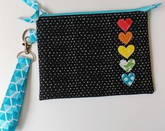 Clutch Style Zipper Pouch in Dear Stella Fabric