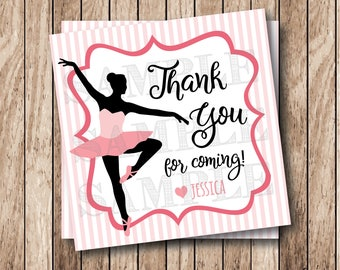 Printable Ballerina Tags, Printable Ballet Tags, Dance Recital Tags, Ballet Party Tags, Dance Thank You Tags