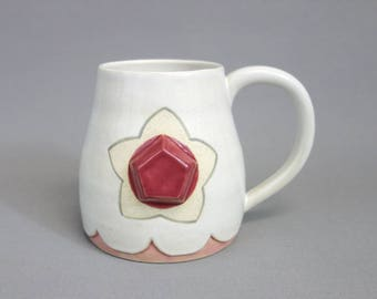 Rose Quartz Mug: Crystal Gem Inspired Steven Universe Ceramic Coffee Mug