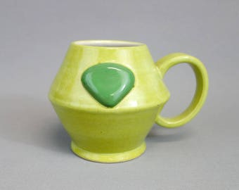 Peridot Mug: Crystal Gem Inspired Steven Universe Ceramic Coffee Mug