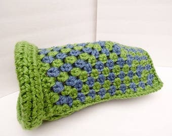 NEW ITEM Dog Sweater, Small Dog Clothing, Green & Blue