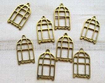 Bridcage pendants brass gold