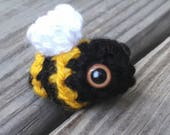 Bitty Bee - crochet bumble bee amigurumi bee crochet bee stuffed bee cute bee bumble bee ornament crochet bugs insect