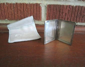 Vintage Sterling Silver Small Standing Rectangular Double Picture Frame