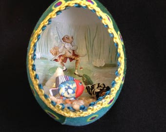 Mr. Toad Fishing Egg Ornament