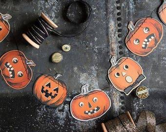 Vintage Mini Pumpkin Banner -  Mini Pumpkin Banner - Mini Pumpkin Garland - Pumpkin Garland - Halloween decorations - Vintage halloween