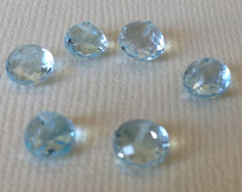 BLUE Topaz Onion Briolettes, 6-7 mm, Luxe AAA, december birthstone wholesale beads 67 solo