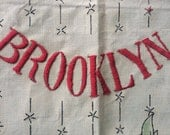 Custom Embroidery for Carla, Brooklyn tapestry, Hand embroidery, Boho, Mashup