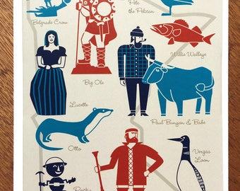 Minnesota Character Icons card
