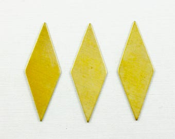 10 blank DIAMOND jewelry brass embellishment 13mm x 36mm (S21). Please read description