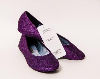 Ready 2 Ship - Size 7 Razzle Purple Ballet Flats Slippers Shoes