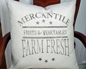 Farmhouse Pillow Cover Farm Fresh Rustic Decor Fixer Upper Farmhouse Decor Decorative Pillow Cover