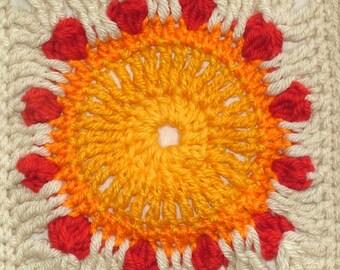Crochet Pattern Afghan Blanket Throw Rug Digital Instant PDF Download