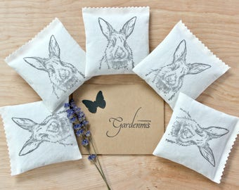 Bunny Baby Shower Favors, Lavender Sachets, Rabbit Party Favors, Spring Baby Shower