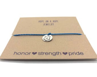 Police Wife Bracelet - Sterling Silver Police Bracelet - Officers Wife Bracelet - Thin Blue Line - Police Support - Police Jewelry
