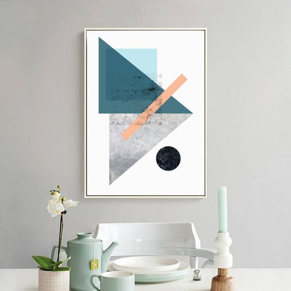 LOLA_2 // Poster, Abstract art, 24x36, minimalist art print, geometric print, abstract, Scandinavian style, nordic design, pink