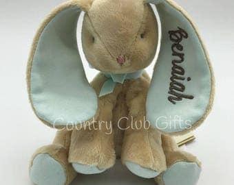 Personalized plush bunny, Personalized baby gift, stuffed bunny with name, stuffed animal bunny, monogram, Easter Basket, baby toy