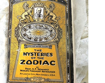 Mysteries Of The Zodiac, Vintage Book,  120 Pages By A. F. Seward