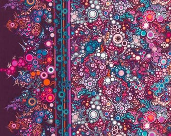 Robert Kaufman Effervescence in Boysenberry 1 yard  YES!! Continuous fabric cuts and combined shipping