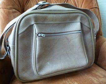 American Tourister, Vintage Luggage, Carry on Bag, Brown, Silver Buckles, Zipper, Luggage, Collectible, Travel Bag, Unique Bag, Plastic Bag