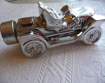 Vintage Avon Bottle, May 1978, Silver Car, Stanley Steamer, Deep Woods, Aftershave Bottle, Collectible, Home Decor, Automobile,Glass Bottle