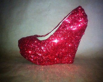 Sparkling wedges for comfortable wedding or special occasion glamour