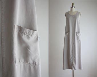 minimal apron dress