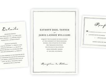 Classic Wedding Invitation | Instant Download, Wedding Template, DIY Wedding, Wedding Invitation Template, Wedding Printable, Wedding Invite