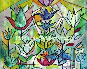 Chakra Garden 12x12 print Original Art