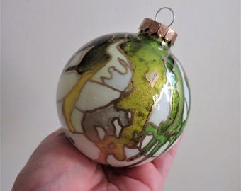 Christmas Ornament - Hand Painted Glass