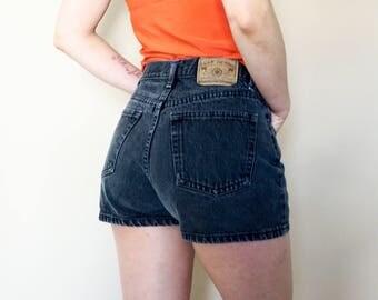 90s faded black GAP jean denim shorts M