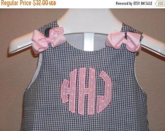 ON SALE Circle Applique Monogram ALine Dress personalized