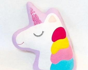 ON SALE Unicorn Cushion - Unicorn Decor - Kawaii Decor - Nursery Decor - Unicorn Nursery Decor - Unicorn Gifts - Unicorn Pillow