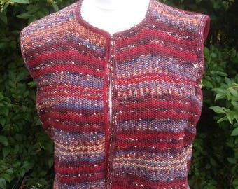 Knitted, multicoloured waistcoat